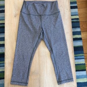 Lululemon High Waist Crop Leggings 10